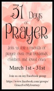 Join us for our Thirty One Days of Praying for our Families!