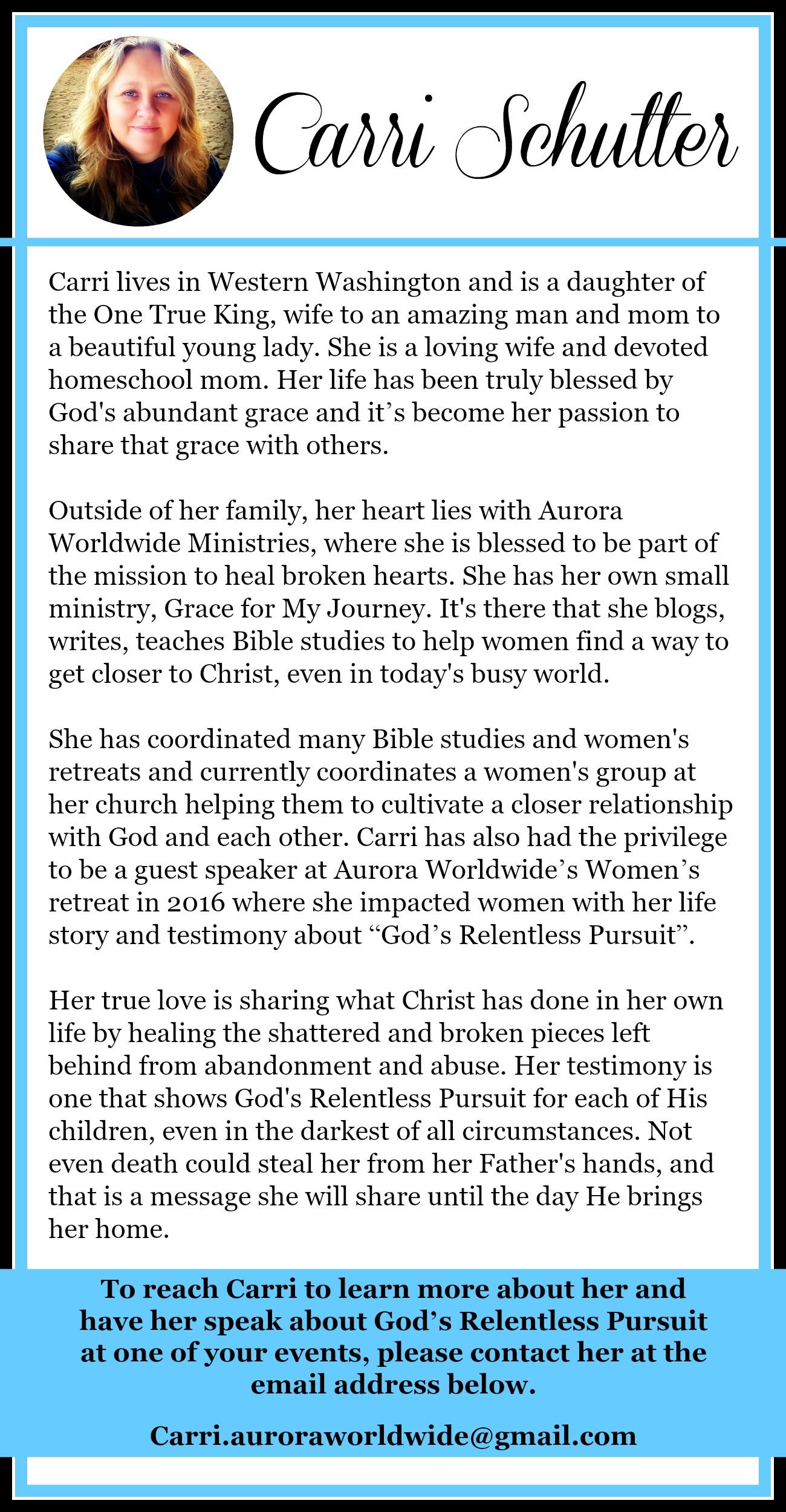 Women's Speaker   Christian   Speaking   setting the captives free   relentless pursuit   Jesus   God   Holy Spirit   inner healing  